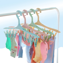 8 Clip Laundry Rack Strong Windproof Sunscreen Plastic Socks Multi-Function Drying Underwear Can Be Rotated