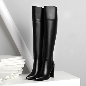 wetkiss 2018 new leather stretch women boots high heels sock bootie winter warm square toe shoes lady autumn high neck footwear brand shoes high heels autumn winter knee high boots woman pointed toe runways warm snow boot leather cowboy sexy women shoes