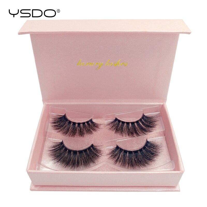 Volume Lashes 2 Pairs Mink Eyelashes Natural Long Makeup 3d False Eyelashes Hand Made Faux Cils Full Strip Lashes 3d Mink Lashes
