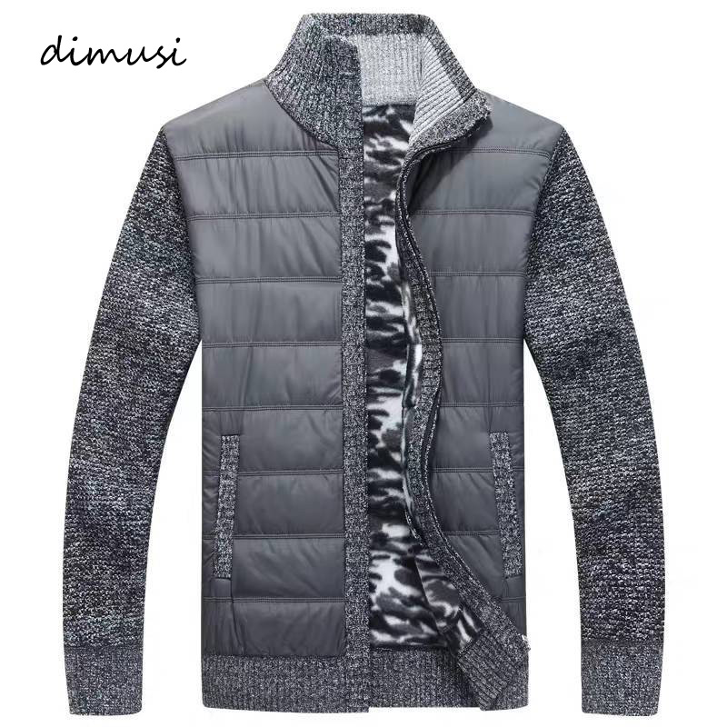 DIMUSI Winter Men's Sweater Fashion Turtleneck Stand Collar Sweater Jackets Men Slim Fit Thick Warm Knitted Pullovers Clothing
