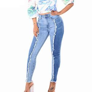 Casual Jeans Trousers Stretch-To-Tighten Autumn Large-Size Fashion Denim Women's New