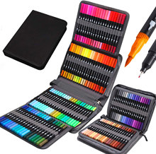 24/72/100/120 Colors Coloring Art Markers Set For Drawing Sketching Bullet Journal Dual Tips Marker Fineliner Pens Art Supplies