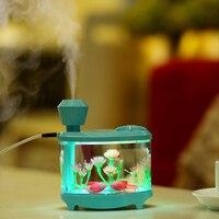 Eloole mini usb umidificador de ar com bateria tanque de peixes aroma difusor do carro névoa criador umidificação ultra-sônica para escritório em casa