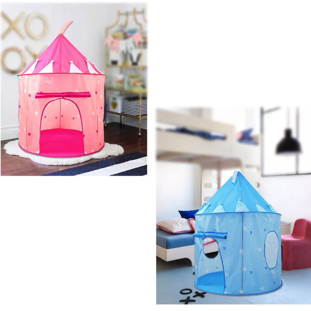 Children'S Castle Yurt Game Tent Foldable Children'S Indoor Game House Princess Tent Children Luminous Tent