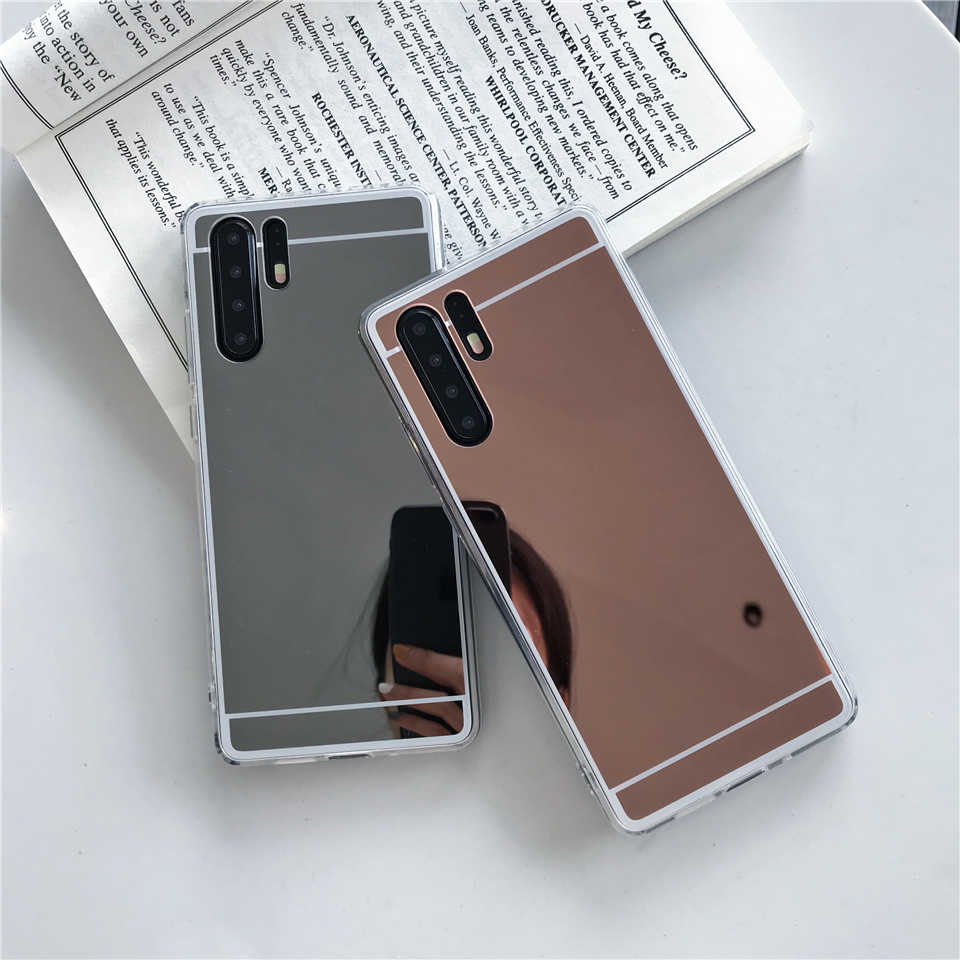 Mirror Case For Huawei P30 Pro P20 P10 Lite Mate 20 Nova 3 4 Cover TPU Bumper On Caso Phone Cases Honor 8A 8X 10 Play 9 P Smart