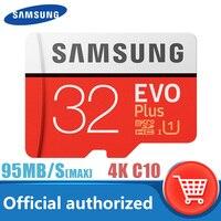 بطاقة سامسونج الأصلية مايكرو SD 32GB Class10 16GB بطاقة ذاكرة microSD 64GB EVO + EVO Plus 256GB 128GB TF بطاقة كارتاو دي ميموريا