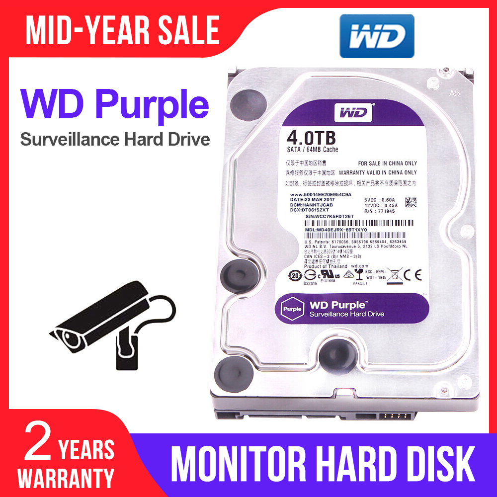 Western Digital WD Surveillance Purple 4TB <font><b>3.5</b></font>