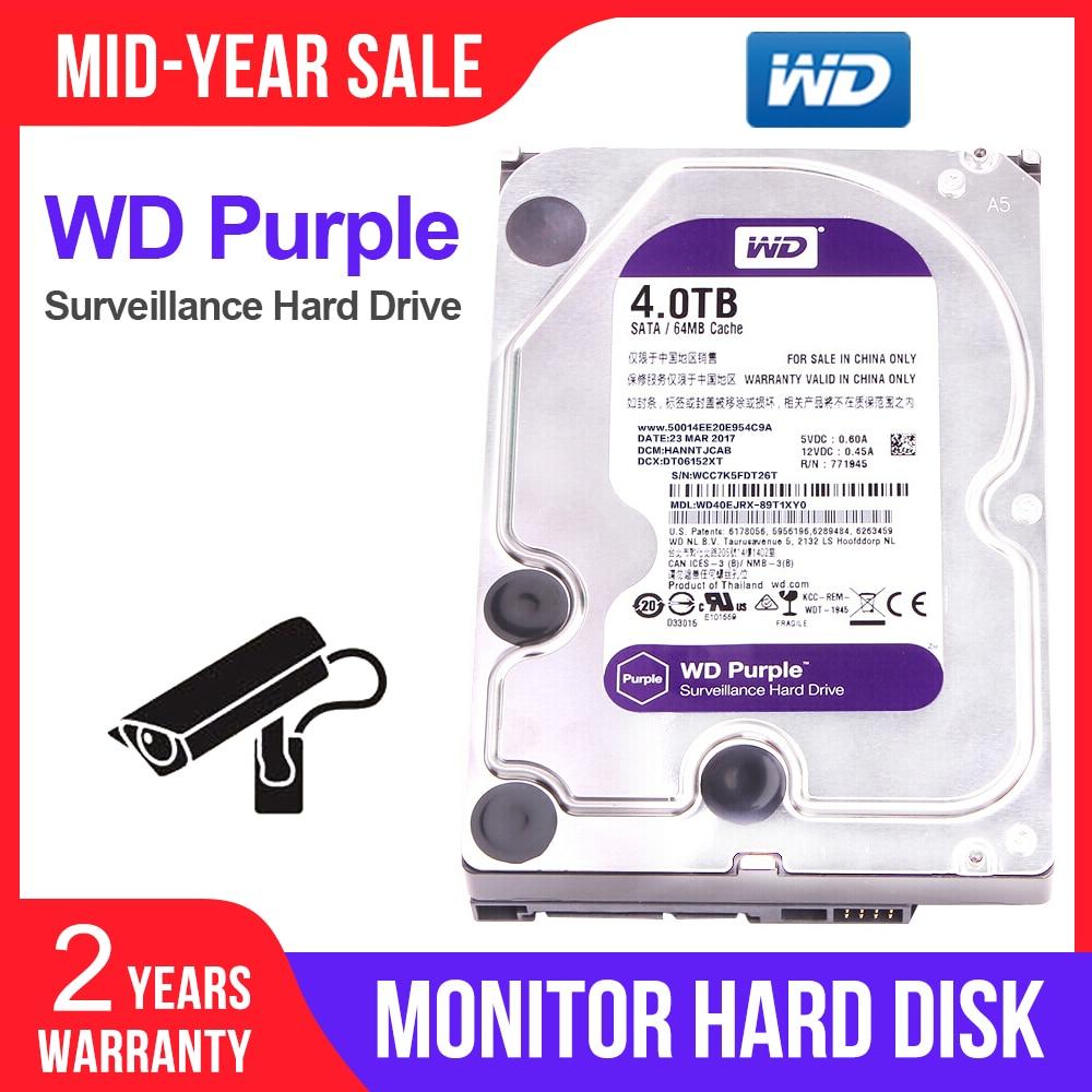 "Western Digital WD Surveillance violet 4 to 3.5 ""disque dur interne HDD SATA 6.0 Gb/s pour caméra cctv AHD DVR caméra IP WD40EJRX"