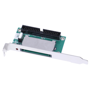 40-Pin CF compact flash card to 3.5 IDE converter adapter PCI bracket back panel cf merory card compact flash to 50pin 1 8 ide hard drive ssd adapter