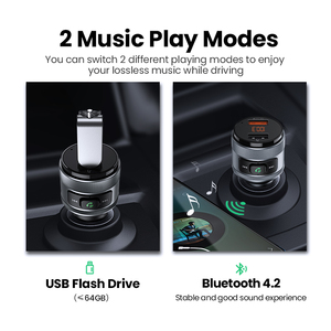 Image 3 - UGREEN USB Car Charger FM Transmitter Quick 3.0 Charge Fast Charger for Xiaomi Samsung iPhone Huawei QC3.0 Charger Car Charging