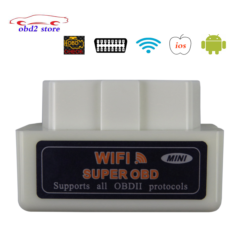 Super ELM327 WIFI OBD2 V1 5 ELM 327 V 1 5 Car Diagnostic Scanner For IOS Android Elm-327 WI-FI OBDII OBD 2 Auto Diagnostic Tool