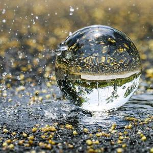 Fotografie Glas Kristall Ball 40/50mm Kugel Fotografie Foto Schießen Requisiten Objektiv Klar Runde Künstliche Ball Decor Geschenk
