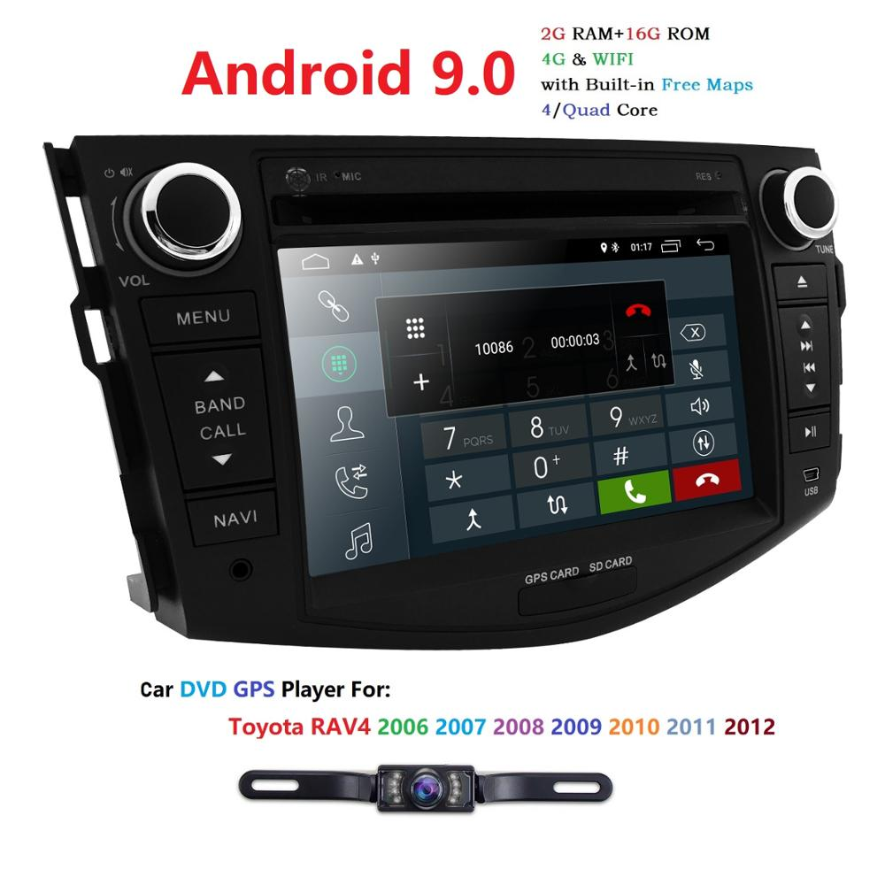 7 Inch 2G RAM Android 9.0 Car DVD Player For Toyota <font><b>RAV</b></font> <font><b>4</b></font> RAV4 2006 2007 2008 2009 2010 <font><b>2011</b></font> 2012 Stereo RDS Mirror link Wifi image