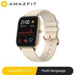 Глобальная версия, Новые смарт-часы Amazfit GTS, 5 АТМ, водонепроницаемые, для плавания, умные часы, 14 дней, батарея, управление музыкой, для телефо...