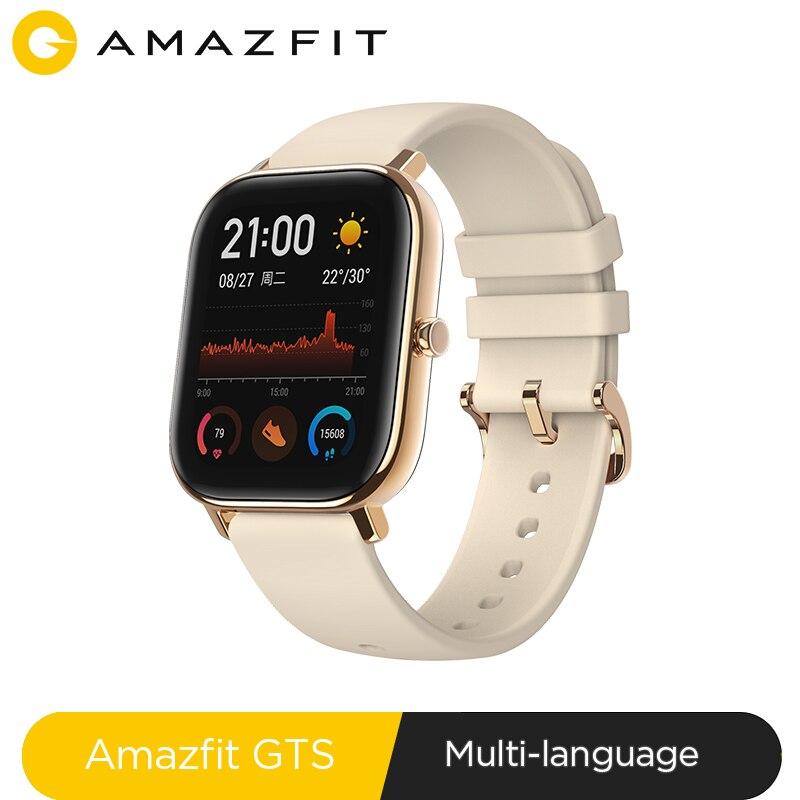 Version mondiale nouvelle montre intelligente Amazfit GTS 5ATM étanche natation Smartwatch 14 jours batterie contrôle de la musique pour téléphone Xiaomi IOS