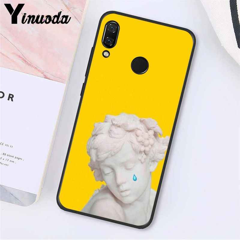 Yinuoda Seni Garis David Mona Lisa Estetika Seni Cat Phone Case untuk Xiaomi Redmi8 4X 6A S2 Pergi Redmi 5 5Plus Note8 Note5 7 6Pro