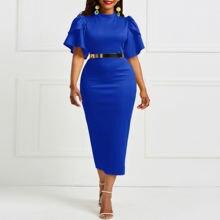Синие облегающие платья женское платье в стиле ретро винтажное