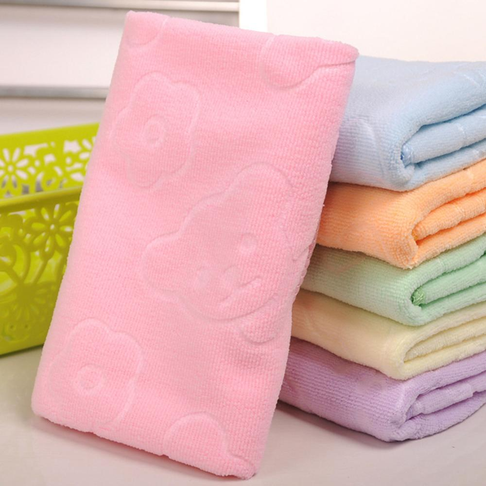 35x75cm Bathroom Cotton Solid Color Terry Bath Towel  Large Towels Microfiber Towel Fast Drying Soft Thick High Absorbent