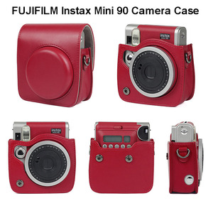 Image 1 - FUJIFILM Instax Mini 90 Neo Classic Camera Case PU Leather Shoulder Strap Camera Bag Crystal PVC Protective Carry Cover