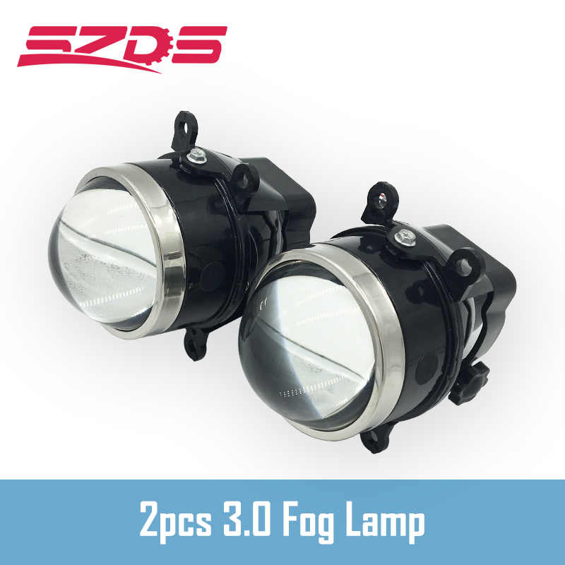 SZDS 3.0 inch Bixenon Projector Fog Light Lens Driving Lamp HID Bulb D2H Waterproof For Ford Focus 2 3/PEUGEOT/RENAULT/SUBARU