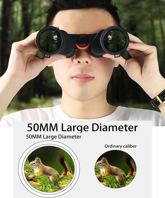 20X Powerful Binoculars Professional Telescope 30000 Meters HD BAK4 High-Transmittance Prism Prevent Dizziness Low Night Vision 4