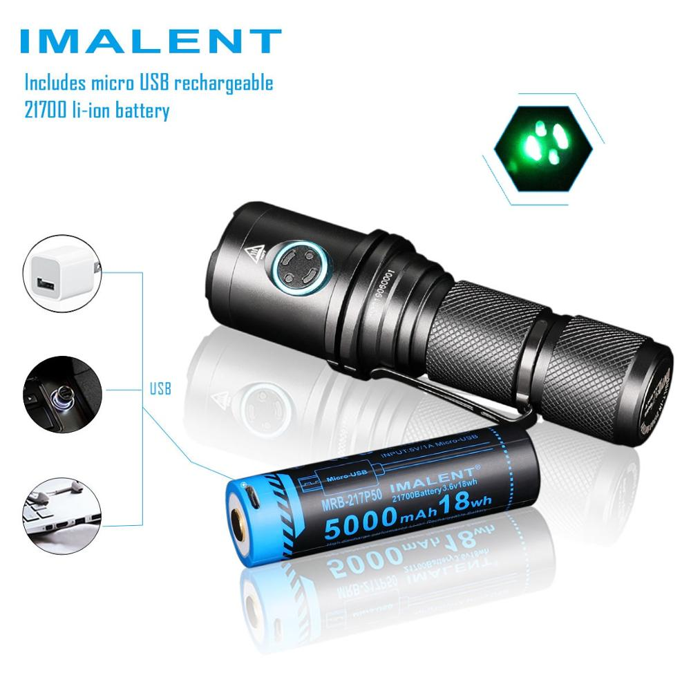 2019 Imalent DM70 LED Flashlight CREE XHP70 4500 Lumens Tactical Flashlight With Rechargeable 21700 Battery For Hiking, Camping