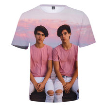 Singer Stokes Twins 3D Printed T Shirts Men/women Summer Fashion Causal Streetwear Harajuku Short Sleeve Round Neck Tops