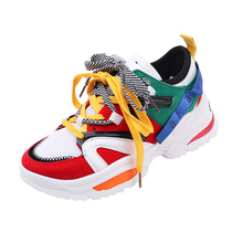 купить Women Tennis Shoes 2019 Fashion Sneakers Height  Increasing Sport Shoes Ladies Casual Breathable Walking Shoes tenis feminino по цене 893.61 рублей