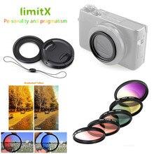 Set di filtri UV Laureato Colore e Anello Adattatore e Lens Cap Keeper per Panasonic LX10 LX15 TZ200 TZ220 ZS200 ZS220 TX2 ZS100 TZ100