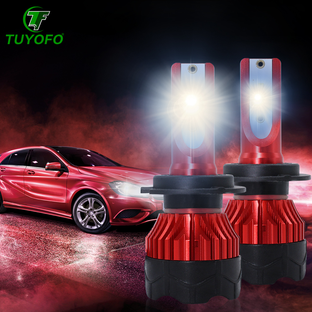 TUYOFO K5 H4 <font><b>LED</b></font> 12000LM/pair 4-Sides COB Headlight H13 H11 <font><b>H7</b></font> 9005 9006 9007 9012 Beam Car <font><b>Light</b></font> Bulbs <font><b>Head</b></font> <font><b>lamps</b></font> image