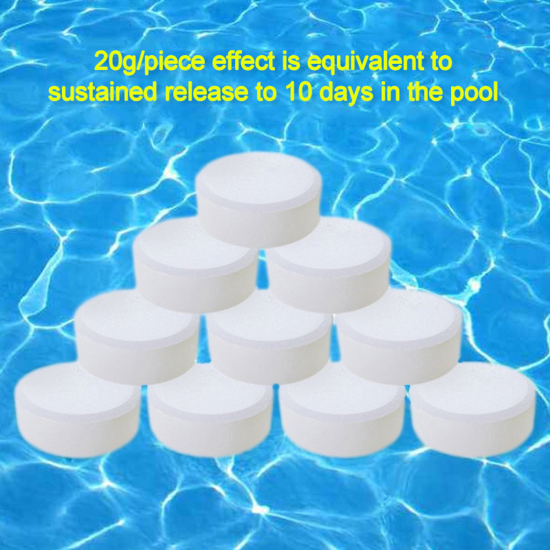 Multifunction Chlorine Tablets Swimming Pool Tub Disinfection Nice