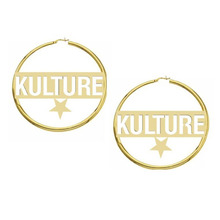 Custom Star shaped Name Hoop earrings Hip Hop Large Circle Earrings For Women 50 60 70MM Round silver Jewelry Bijoux Femme