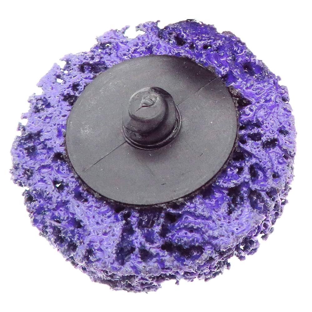 10Pcs/Set 2Inch 50MM Purple Diamonds Transfer Sand Disc Metal Grinding Diamond Angle Wheel Paint Rust Removal Cleaning Polishing