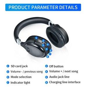 Image 5 - Cuffie da gioco Wireless Bluetooth V4.2 cuffie Stereo HD pieghevoli cuffie intelligenti con cancellazione del rumore supporto TF Card