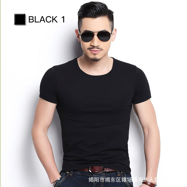 Solid Color Slim Fit T-shirts 8