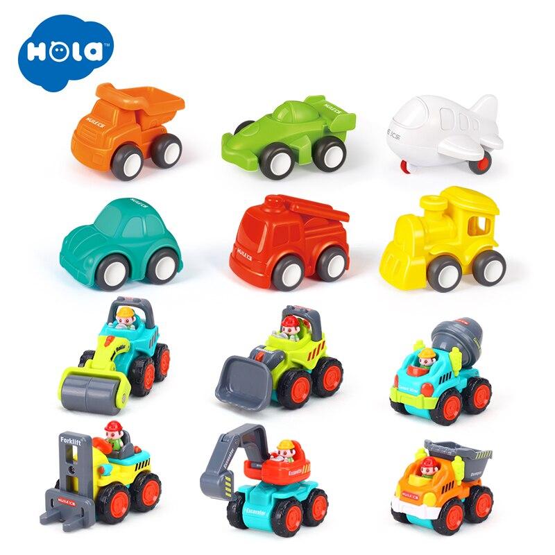 HOLA TOYS 3116 + 3117 retirer voiture jouets voiture enfants course voiture bébé Mini voitures pour enfants cadeaux
