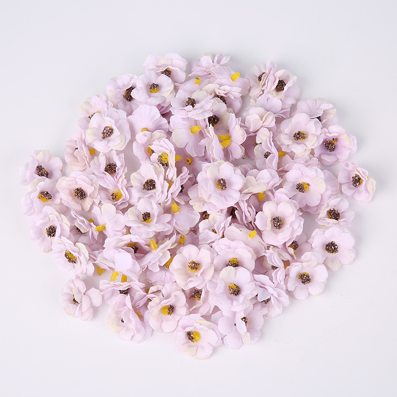 100 Pcs/3cm Multicolor Mini Daisy Silk Artificial Flower DIY Party Christmas Wreath Home Wedding Decoration Artificial Flower-3