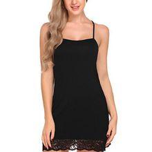 Fashion Night dress Women Milk Silk Sling Sleepwear Ladies Hollow Back Lace Beauty Back Mini Nightgowns hollow cut insert knot back dress
