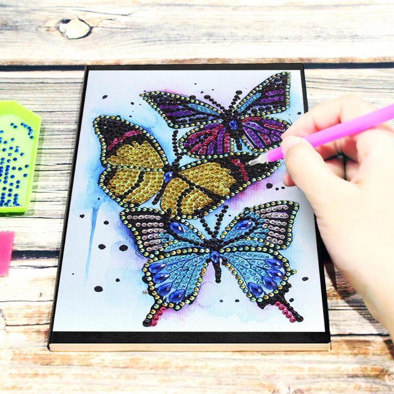 Diy Art Diamond Painting Notebook Diary Round Diamond Mosaic