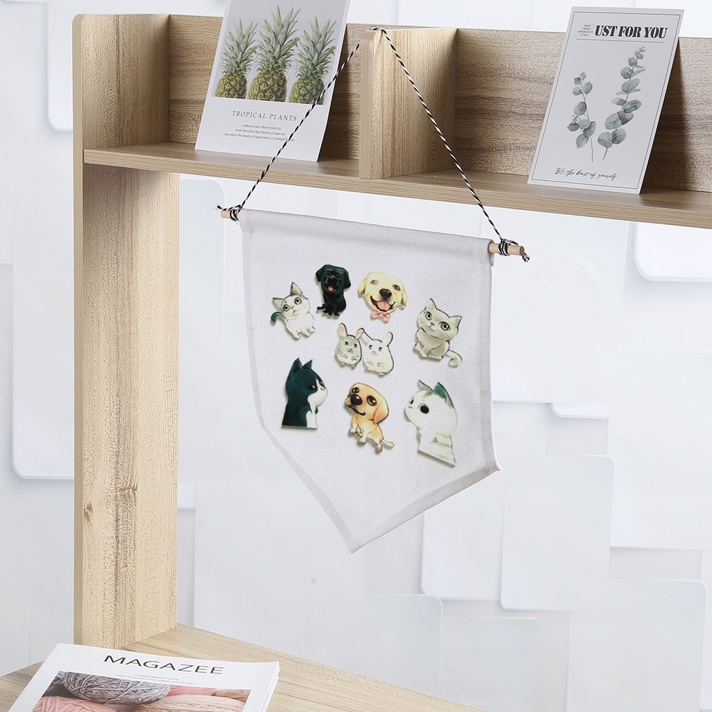 Cotton Wood <font><b>Blank</b></font> <font><b>Pin</b></font> Wall Display Banner Collections Storage <font><b>Badge</b></font> Pennant Flag <font><b>Buttons</b></font> and Lapel Home Decoration DIY Cotton image