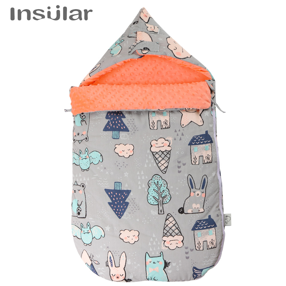 Baby Sleeping Bag Sleepsack For Stroller Multi-function Sleep Sack Neck Newborns Boy Girl Wrap Swaddle Blanket Baby Slaapzak