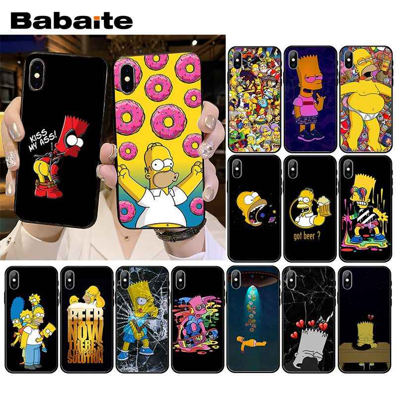 Babaite Funny Homer J.Simpson Phone Case for iPhone XR 11 Pro MaxXS MAX  8 7 6 6S Plus X 5 5S SE
