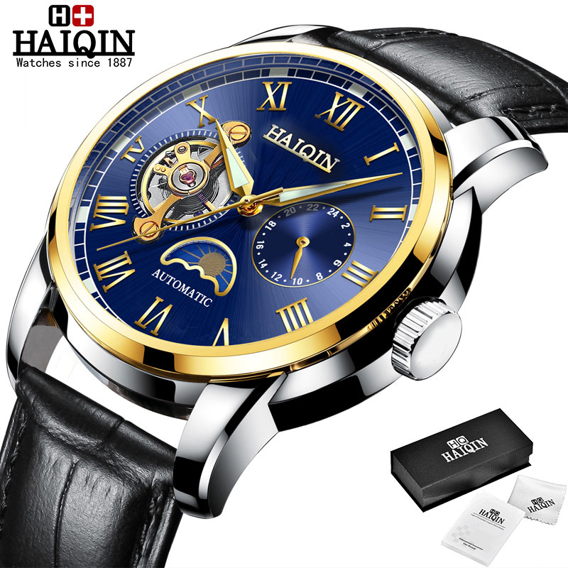 HAIQIN Mechanical watches mens automatic wrist watch for mens watches top brand luxury watch men Tourbillon relojes hombre 2020 9