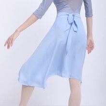 Women Chiffon Skirts Lace-up Ballet Skirts Girls Ballet Dance Dress Tulle Skirt Polyester Adult Dance Costumes