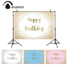 Allenjoy photo background happy birthday 18+ colorful gold silver sands boda princess boy kids baby shower backdrop photozone