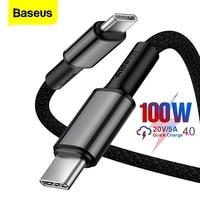 Baseus-Cable de datos 5A 100W tipo PD C a tipo C, Cable de carga rápida para ordenador portátil, tableta, teléfono móvil, Nintendo Switch