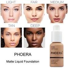 Жидкая основа для макияжа PHOERA, минеральный матовый отбеливающий крем-консилер для лица, Осветляющий Увлажняющий макияж TSLM1