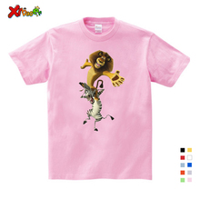 Best Sellers Cartoon Printing Madagascar Summer New T Shirt Alex Marty Cute Funny T Shirt Summer Send Children Birthday Gift 2018 new summer casual men t shirt may only the best are born in may men s t shirt grey birthday gift 00512