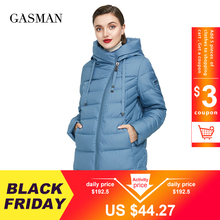 Hooded Parka Down-Jacket Thick Coat GASMAN Long Puffer Plus-Size Winter Women 6XL Female