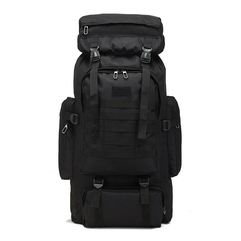 Black Outdoor Rucksack Large Capacity 80 L Backpack Camouflage Knapsack Travel Mountaineering Bag 1.28kg